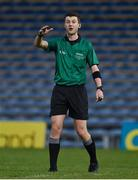 31 October 2020; Referee Seán Stack during the Munster GAA Hurling Senior Championship Semi-Final match between Cork and Waterford at Semple Stadium in Thurles, Tipperary. Photo by Brendan Moran/Sportsfile