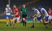 31 October 2020; Mark Coleman of Cork in action against Jamie Barron and Austin Gleeson of Waterford during the Munster GAA Hurling Senior Championship Semi-Final match between Cork and Waterford at Semple Stadium in Thurles, Tipperary. Photo by Brendan Moran/Sportsfile