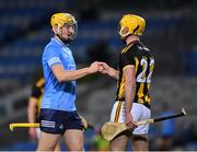 31 October 2020; Daire Gray of Dublin and Richie Leahy of Kilkenny after the Leinster GAA Hurling Senior Championship Semi-Final match between Dublin and Kilkenny at Croke Park in Dublin. Photo by Ray McManus/Sportsfile