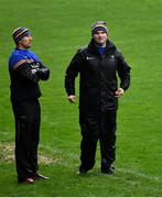 1 November 2020;  Wicklow manager Davy Burke, right, with selector Gary Jameson during the Leinster GAA Football Senior Championship Round 1 match between Wexford and Wicklow at Chadwicks Wexford Park in Wexford. Photo by Piaras Ó Mídheach/Sportsfile