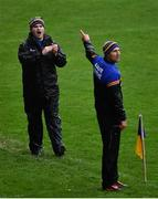 1 November 2020;  Wicklow manager Davy Burke, left, with selector Gary Jameson during the Leinster GAA Football Senior Championship Round 1 match between Wexford and Wicklow at Chadwicks Wexford Park in Wexford. Photo by Piaras Ó Mídheach/Sportsfile