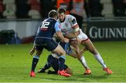 2 November 2020; Stuart McCloskey of Ulster is tackled by Garyn Smith of Cardiff Blues during the Guinness PRO14 match between Cardiff Blues and Ulster at Rodney Parade in Newport, Wales. Photo by Gareth Everett/Sportsfile