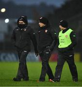 1 November 2020; Armagh manager Kieran McGeeney, centre, during the Ulster GAA Football Senior Championship Quarter-Final match between Derry and Armagh at Celtic Park in Derry. Photo by David Fitzgerald/Sportsfile