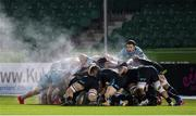 2 November 2020: A general view of a scrum during the Guinness PRO14 match between Glasgow Warriors and Leinster at Scotstoun Stadium in Glasgow, Scotland. Photo by Ross Parker/Sportsfile