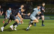 2 November 2020: Jimmy O'Brien of Leinster on his way to scoring his side's first try during the Guinness PRO14 match between Glasgow Warriors and Leinster at Scotstoun Stadium in Glasgow, Scotland. Photo by Ross Parker/Sportsfile