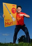 3 November 2020; Wexford hurler Lee Chin, pictured, and Tipperary hurler Seamus Callanan hit the campaign trail as they kicked off NOW TV's Hurl v Hurley campaign which will see the nation vote on what is the definitive term for a hurler's most prized possession! The two All-Stars will spend the next week canvassing the Irish public to decide what it is we should call a camán with Lee backing Hurl and Séamus putting his support behind Hurley. The result of the poll will be revealed to the public on November 12th. To have your say visit HurlvHurley.com where you can cast your vote right now! Pictured is Wexford hurler Lee Chin at Faythe Harriers GAA Club in Wexford. Photo by Ramsey Cardy/Sportsfile