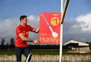 3 November 2020; Tipperary hurler Séamus Callanan and Wexford hurler Lee Chin hit the campaign trail as they kicked off NOW TV's Hurl v Hurley campaign which will see the nation vote on what is the definitive term for a hurler's most prized possession! The two All-Stars will spend the next week canvassing the Irish public to decide what it is we should call a camán with Lee backing Hurl and Séamus putting his support behind Hurley. The result of the poll will be revealed to the public on November 12th. To have your say visit HurlvHurley.com where you can cast your vote right now! Pictured is Tipperary hurler Séamus Callanan at Drom and Inch GAA Club in Tipperary. Photo by Sam Barnes/Sportsfile