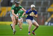 1 November 2020; Brendan Maher of Tipperary in action against Gearoid Hegarty of Limerick during the Munster GAA Hurling Senior Championship Semi-Final match between Tipperary and Limerick at Páirc Uí Chaoimh in Cork. Photo by Brendan Moran/Sportsfile