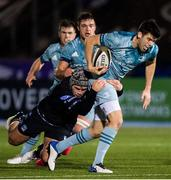 2 November 2020: Harry Byrne of Leinster is tackled by Grant Stewart of Glasgow Warriors during the Guinness PRO14 match between Glasgow Warriors and Leinster at Scotstoun Stadium in Glasgow, Scotland. Photo by Ross Parker/Sportsfile