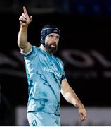2 November 2020: Scott Fardy of Leinster during the Guinness PRO14 match between Glasgow Warriors and Leinster at Scotstoun Stadium in Glasgow, Scotland. Photo by Ross Parker/Sportsfile