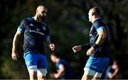 6 November 2020; Scott Fardy, left, and Rhys Ruddock during Leinster Rugby squad training at UCD in Dublin. Photo by Ramsey Cardy/Sportsfile