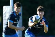 6 November 2020; Max O'Reilly, right, and Dan Sheehan during Leinster Rugby squad training at UCD in Dublin. Photo by Ramsey Cardy/Sportsfile