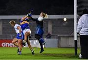 6 November 2020; Roisin Howard of Tipperary scores her side's first goal, which was subsequently disallowed by referee Kevin Phelan, during the TG4 All-Ireland Senior Ladies Football Championship Round 2 match between Monaghan and Tipperary at Parnell Park in Dublin. Photo by Eóin Noonan/Sportsfile