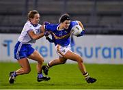 6 November 2020; Roisin Howard of Tipperary in action against Anita Newell of Monaghan during the TG4 All-Ireland Senior Ladies Football Championship Round 2 match between Monaghan and Tipperary at Parnell Park in Dublin. Photo by Eóin Noonan/Sportsfile