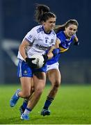 6 November 2020; Muireann Atkinson of Monaghan in action against Maria Curley of Tipperary during the TG4 All-Ireland Senior Ladies Football Championship Round 2 match between Monaghan and Tipperary at Parnell Park in Dublin. Photo by Eóin Noonan/Sportsfile