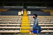 7 November 2020; Cathal Malone of Clare arrives prior to the GAA Hurling All-Ireland Senior Championship Qualifier Round 1 match between Clare and Laois at UPMC Nowlan Park in Kilkenny. Photo by Brendan Moran/Sportsfile