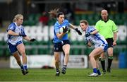 7 November 2020; Lyndsey Davey of Dublin in action against Mairéad Wall, left, and Rebecca Casey of Waterford during the TG4 All-Ireland Senior Ladies Football Championship Round 2 match between Dublin and Waterford at Baltinglass GAA Club in Baltinglass, Wicklow. Photo by Stephen McCarthy/Sportsfile