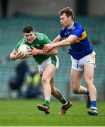 7 November 2020; Iain Corbett of Limerick in action against Liam Casey of Tipperary during the Munster GAA Football Senior Championship Semi-Final match between Limerick and Tipperary at LIT Gaelic Grounds in Limerick. Photo by Piaras Ó Mídheach/Sportsfile