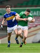 7 November 2020; Iain Corbett of Limerick in action against Emmet Moloney of Tipperary during the Munster GAA Football Senior Championship Semi-Final match between Limerick and Tipperary at LIT Gaelic Grounds in Limerick. Photo by Piaras Ó Mídheach/Sportsfile
