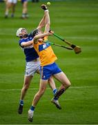 7 November 2020; Cathal Malone of Clare contests possession with Ryan Mullaney of Laois during the GAA Hurling All-Ireland Senior Championship Qualifier Round 1 match between Clare and Laois at UPMC Nowlan Park in Kilkenny. Photo by Brendan Moran/Sportsfile