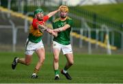7 November 2020; Adam Gannon of Meath in action against Paul Coady of Carlow during the Joe McDonagh Cup Round 3 match between Carlow and Meath at Netwatch Cullen Park in Carlow. Photo by Matt Browne/Sportsfile