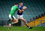 7 November 2020; Michael Quinlivan of Tipperary in action against Iain Corbett of Limerick during the Munster GAA Football Senior Championship Semi-Final match between Limerick and Tipperary at LIT Gaelic Grounds in Limerick. Photo by Piaras Ó Mídheach/Sportsfile