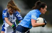 7 November 2020; Niamh McEvoy of Dublin in action against Katie Murray of Waterford during the TG4 All-Ireland Senior Ladies Football Championship Round 2 match between Dublin and Waterford at Baltinglass GAA Club in Baltinglass, Wicklow. Photo by Stephen McCarthy/Sportsfile