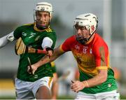 7 November 2020; Martin Kavanagh of Carlow in action against Keith Keoghan of Meath during the Joe McDonagh Cup Round 3 match between Carlow and Meath at Netwatch Cullen Park in Carlow. Photo by Matt Browne/Sportsfile