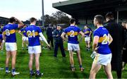7 November 2020; Tipperary manager David Power talks to his players after the Munster GAA Football Senior Championship Semi-Final match between Limerick and Tipperary at LIT Gaelic Grounds in Limerick. Photo by Piaras Ó Mídheach/Sportsfile