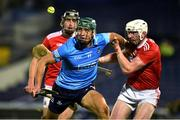 7 November 2020; Chris Crummey of Dublin in action against Damien Cahalane of Cork during the GAA Hurling All-Ireland Senior Championship Qualifier Round 1 match between Dublin and Cork at Semple Stadium in Thurles, Tipperary. Photo by Daire Brennan/Sportsfile