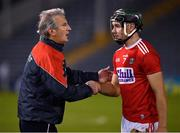 7 November 2020; Cork manager Kieran Kingston with Mark Coleman after the GAA Hurling All-Ireland Senior Championship Qualifier Round 1 match between Dublin and Cork at Semple Stadium in Thurles, Tipperary. Photo by Ray McManus/Sportsfile