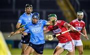 7 November 2020; Eoghan O'Donnell of Dublin in action against Aidan Walsh of Cork during the GAA Hurling All-Ireland Senior Championship Qualifier Round 1 match between Dublin and Cork at Semple Stadium in Thurles, Tipperary. Photo by Daire Brennan/Sportsfile