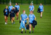 7 November 2020; Lauren Magee and Siobhan Killeen, right, of Dublin following the TG4 All-Ireland Senior Ladies Football Championship Round 2 match between Dublin and Waterford at Baltinglass GAA Club in Baltinglass, Wicklow. Photo by Stephen McCarthy/Sportsfile