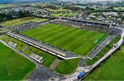 8 November 2020; An aerial view ahead of the Connacht GAA Football Senior Championship Semi-Final match between Roscommon and Mayo at Dr Hyde Park in Roscommon. Photo by Ramsey Cardy/Sportsfile