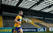 7 November 2020; Tony Kelly of Clare runs onto the pitch prior to the GAA Hurling All-Ireland Senior Championship Qualifier Round 1 match between Clare and Laois at UPMC Nowlan Park in Kilkenny. Photo by Brendan Moran/Sportsfile