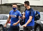 8 November 2020; Patrick O'Sullivan and Robert Pigott of Laois arrive for the Leinster GAA Football Senior Championship Quarter-Final match between Longford and Laois at Glennon Brothers Pearse Park in Longford. Photo by Ray McManus/Sportsfile