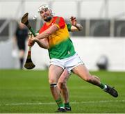 7 November 2020; Chris Nolan of Carlow in action against Paddy Conneely of Meath during the Joe McDonagh Cup Round 3 match between Carlow and Meath at Netwatch Cullen Park in Carlow. Photo by Matt Browne/Sportsfile
