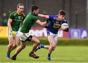 8 November 2020; Conor Byrne of Wicklow in action against Shane McEntee of Meath during the Leinster GAA Football Senior Championship Quarter-Final match between Wicklow and Meath at the County Grounds in Aughrim, Wicklow. Photo by Matt Browne/Sportsfile