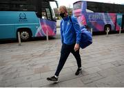 8 November 2020; Leinster Head Coach Leo Cullen arrives ahead of the Guinness PRO14 match between Ospreys and Leinster at Liberty Stadium in Swansea, Wales. Photo by Chris Fairweather/Sportsfile