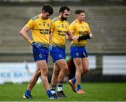8 November 2020; Roscommon players, from left, Brian Stack, Donie Smith and Conor Cox react following the Connacht GAA Football Senior Championship Semi-Final match between Roscommon and Mayo at Dr Hyde Park in Roscommon. Photo by Harry Murphy/Sportsfile