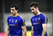 8 November 2020; Darren Gallagher, left, and Kevin Diffley of Longford after the Leinster GAA Football Senior Championship Quarter-Final match between Longford and Laois at Glennon Brothers Pearse Park in Longford. Photo by Ray McManus/Sportsfile
