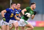 8 November 2020; Jordan Morris of Meath in action against Saorse Kearon of Wicklow during the Leinster GAA Football Senior Championship Quarter-Final match between Wicklow and Meath at the County Grounds in Aughrim, Wicklow. Photo by Matt Browne/Sportsfile