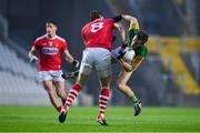 8 November 2020; Gavin White of Kerry is tackled by Ian Maguire of Cork during the Munster GAA Football Senior Championship Semi-Final match between Cork and Kerry at Páirc Uí Chaoimh in Cork. Photo by Brendan Moran/Sportsfile