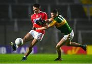 8 November 2020; Mark Collins of Cork in action against Ronan Buckley of Kerry during the Munster GAA Football Senior Championship Semi-Final match between Cork and Kerry at Páirc Uí Chaoimh in Cork. Photo by Eóin Noonan/Sportsfile