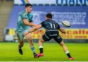 8 November 2020; Jimmy O'Brien of Leinster in action against Luke Morgan of Ospreys during the Guinness PRO14 match between Ospreys and Leinster at Liberty Stadium in Swansea, Wales. Photo by Aled Llywelyn/Sportsfile