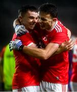 8 November 2020; Sean Powter, left, celebrates with Mark Collins of Cork following the Munster GAA Football Senior Championship Semi-Final match between Cork and Kerry at Páirc Uí Chaoimh in Cork. Photo by Eóin Noonan/Sportsfile