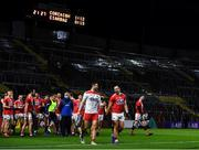 8 November 2020; Cork players Micheál Martin and Paul Kerrigan leave the pitch after victory over Kerry in the Munster GAA Football Senior Championship Semi-Final match between Cork and Kerry at Páirc Uí Chaoimh in Cork. Photo by Brendan Moran/Sportsfile