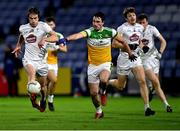 8 November 2020; Paddy Brophy of Kildare in action against Eoin Rigney of Offaly during the Leinster GAA Football Senior Championship Quarter-Final match between Offaly and Kildare at MW Hire O'Moore Park in Portlaoise, Laois. Photo by Piaras Ó Mídheach/Sportsfile