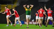 8 November 2020; A dejected Seán O'Shea after the final whistle of the Munster GAA Football Senior Championship Semi-Final match between Cork and Kerry at Páirc Uí Chaoimh in Cork. Photo by Brendan Moran/Sportsfile