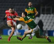 8 November 2020; Paul Murphy of Kerry blocks a shot by Sean Powter of Cork during the Munster GAA Football Senior Championship Semi-Final match between Cork and Kerry at Páirc Uí Chaoimh in Cork. Photo by Brendan Moran/Sportsfile
